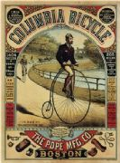 Vintage American bicycle advertisment poster
